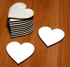 10 Stk Holzherzen 5cm Herzen aus Holz Dekoherzen Hochzeitsdeko Tischdeko