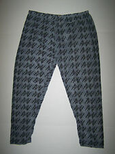NWT WOMENS CONNECTION 18 GRAY BLACK LACE APPLE BOTTOMS LEGGINGS SZ SMALL S