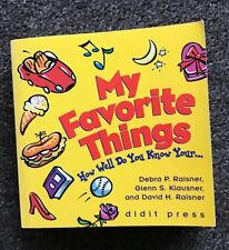 My Favorite Things How Well Do You Know Your... PB Book Game Debra P. Raisner