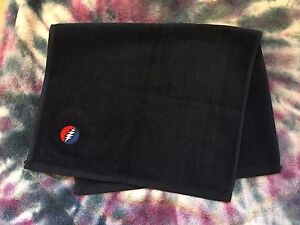 Grateful Dead Steal Your Face Embroidered Hand Towel Fender 16 X 26 Navy / Black