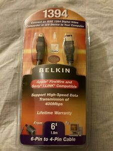 Belkin 1394 Digital Connect 6 Ft Long 6-Pin to 4-Pin Cable (EL03)