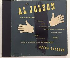 Al Jolson in Songs He Made Famous Decca 10' 78 RPM Only One 78