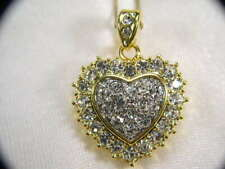 2  *For* 1 Price  HEART CHARM PENDANT NECKLACE WITH SWAROVSKI CRYSTALS #035