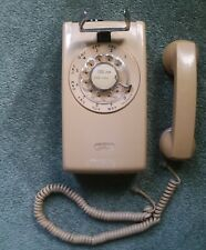 Bell System Western Electric 554 BMP Rotary Wall Mounted Telephone Phone Beige