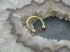 Circular barbell piercing oreja de oro line Intim tabique Tragus nariz labio oreja pecho