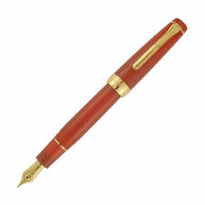 Sailor Pro Gear Regular Fountain Pen in Fire Red - 21kt Gold Broad Point NEW