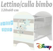 LETTINO CULLA BIMBO 120X60 CM!NUOVA COLLEZIONE DISNEY2016 MICKEY NANNA
