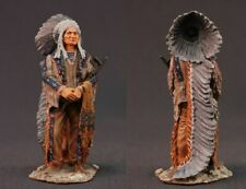 Tin toy soldiers painted 54mm   Indian Chief Sitting Bull