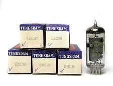5x Radio-Röhre Tungsram EBC81 / EBC81 f. 50er Jahre Röhrenradio, NOS