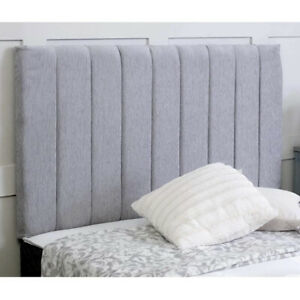 """Chenille Panel Headboard Divan Bed 24"""" - Single, Double, King - Free Delivery"""