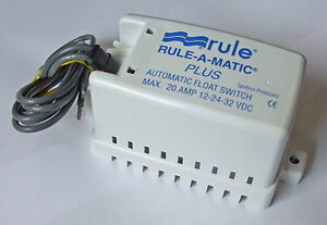 Float switch for bilge pump  12/24/32v  Heavy Duty  RULE   MODEL 40A