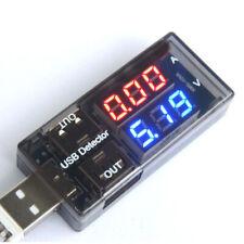 CARICABATTERIE USB corrente Medico RILEVATORE DI TENSIONE BATTERIA Voltmetro Amperometro Tester