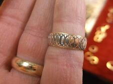 "#10 of 11, AWESOME 14K YELLOW & WHITE GOLD LADIES ""ETERNAL RINGS"" WEDDING BAND"