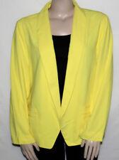 NEW Alfani Women 24W Long Sleeve Open Front Shawl Collar Jacket YELLOW