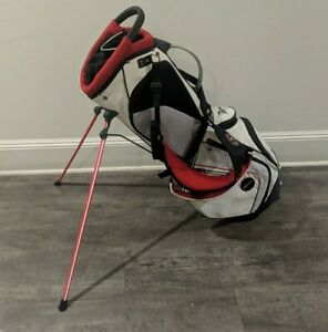 Mizuno AeroLite SPR White Red Black  14-Way Carry Stand Golf Bag 5lb 14oz