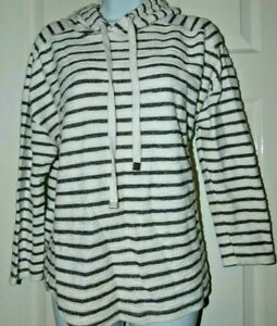 Love Leisure size 16 blue & white striped hooded jumper