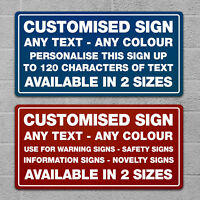 Custom Sign Personalised Plaque Customise Quote Text Safety Office Novelty Gift