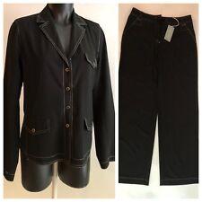 Gerard Darel 42 USA Size 10 Black Pant Suit Pants Jacket NEW NWT Light Weight