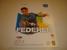 Roger Federer Signed 2014 W&S Open Official Player Card PSA/DNA Autographed 1F