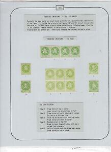 Argentina EXHIBITION album page - 1870 Escuditos