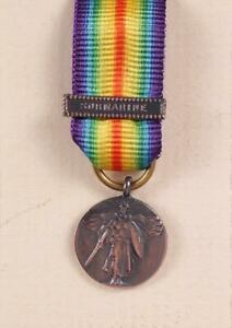 WW1 US ARMY NAVY UNITED STATES VICTORY MINIATURE MEDAL SUBMARINE BAR