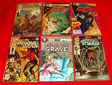13 Charlton Horror Sci-Fi Bronze Age Comic Books 1975-83 Haunted Library Grave +