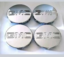 "GMC CHROME CENTER CAP Yukon Denali Sierra 3.25"" 83mm 18 20 22 Wheel 9595759 4pc"