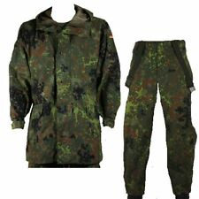 German Army Flecktarn Military Goretex Waterproof Rain Jacket Trouser Over Suit