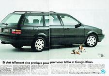 PUBLICITE ADVERTISING 115  1989  Volkswagen la Passat Gl 112 break am (2p)