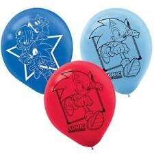 "6X12"" Sonic The Hedgehog Sega Latex Balloon Birthday Party Dedication Decoration"