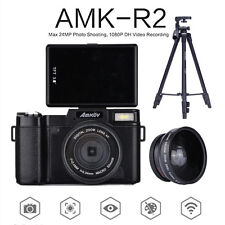 AMKOV Amk-r2 24mp HD 1080p Digital SLR DSLR Camera Wide-angle Lens Tripod Mount