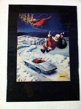 "1963 Chevrolet Corvette Santa Hertz print ""Ready to Display"" car ad gift 1964"