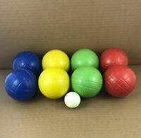 Bocce Ball Set SportCraft 9 Piece Balls & Tote Etched Lawn Bowling
