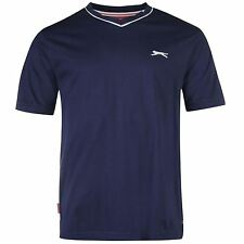 [Medium] Slazenger V Neck T-Shirt Mens Navy Top Tee Shirt