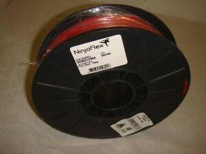 NINJAFLEX TPE 3D PRINTER FILAMENT .75G SPOOL 3MM FIRE