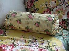 NEW Custom Ralph Lauren Sophie Stripe w/ Ruffle Neckroll Pillow Neck Roll