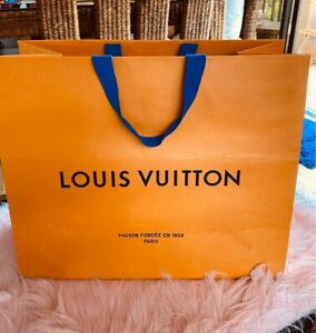 100% Authentic LOUIS VUITTON Large Store Gift Bag - Perfect Condition