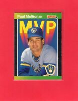 1989 Donruss baseball  #BC-9  PAUL MOLITOR  Milwaukee Brewers Hall of Fame