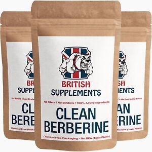 Clean Premium Berberine 14,787mg + Uptake Blend per Capsule British Supplements
