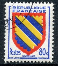 STAMP / TIMBRE FRANCE OBLITERE N° 1001  BLASON NIVERNAIS