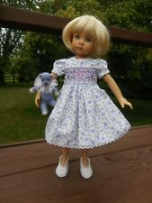 OOAK hand smocked dress for 13 inches Little Darling doll by Diana Effner