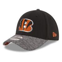 NEW ERA Cincinnati Bengals NFL 39THIRTY Draft Reverse Stretch Fit Hat Cap - S/M