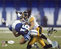 Troy Polamalu Autographed Pittsburgh Steelers 8x10 Photo (Tackle) - JSA COA