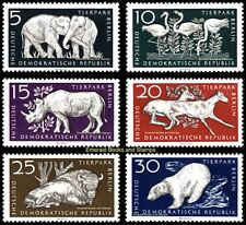 EBS East Germany DDR 1956 Berlin Zoo Michel 551-556 MNH**