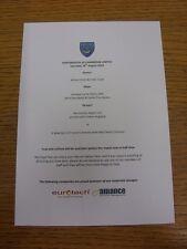 16/08/2014 Portsmouth v Cambridge United - Match Day Hospitality Menu, A5 Colour