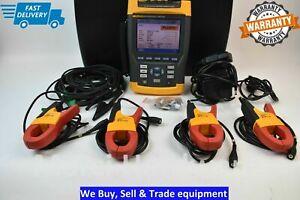 Fluke 434 Three Phase Power Quality Analyzer Meter with Accessories
