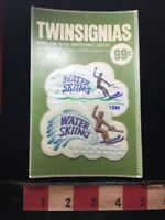 Vtg TWINSIGNIAS Brand Ski WATER SKIING Patch Emblem & Decal 73W4