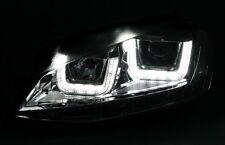 LED Scheinwerfer Set Schwarz für VW Golf 7 VII Tagfahrlich U-Tube GTI R GTD R400