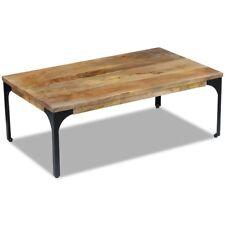 vidaXL Mango Wood Side Coffee Table Steel Frame Living Room Furniture Industrial
