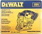 New DeWalt DCS331B 20V Cordless Battery Variable Speed Jig Saw Max 20 Volt Blade